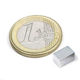Q-08-05-05-Z Block magnet 8 x 5 x 5 mm, neodymium, N45, zinc-plated
