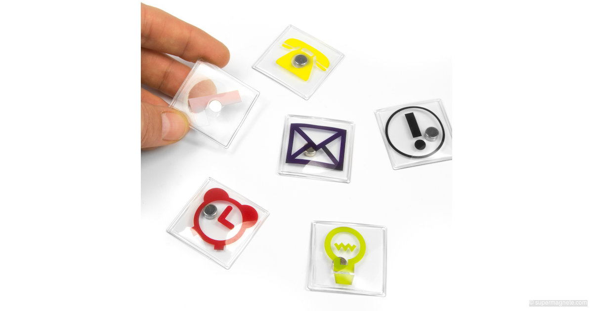 b ro icons quadratisch sale 110 neodym magnete. Black Bedroom Furniture Sets. Home Design Ideas