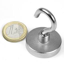 FTN-32, Hook magnet Ø 32 mm, thread M5, strength approx. 30 kg