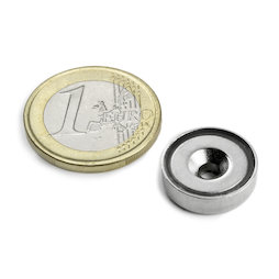 CSN-16, Countersunk pot magnet Ø 16 mm, strength approx. 4 kg