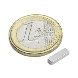 Q-10-03-02-HN, Block magnet 10 x 3 x 2 mm, neodymium, 44H, nickel-plated