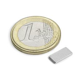 Q-10-05-1.2-N, Block magnet 10 x 5 x 1,2 mm, neodymium, N50, nickel-plated