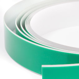 M-FERROTAPE, Metal band self-adhesive white, self-adhesive surface for magnets, width 35 mm