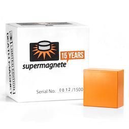Q-51-51-25-X, Death Magnet Limited Edition, Block magnet 50,8 x 50,8 x 25,4 mm, neodymium, N40, nickel-plated