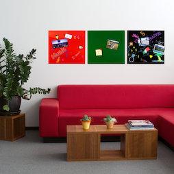 GMBB-4550, Glass memo board square, 45 x 50 cm, in different colours