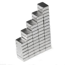 Q-06-04-02-HN, Block magnet 6 x 4 x 2 mm, neodymium, 44H, nickel-plated